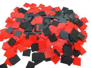 schwarz rot Theaterschnee B1